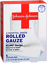(2 Pack) Johnson & Johnson Red Cross First Aid Rolled Gauze 2