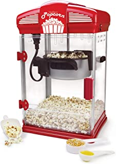West Bend 82515 Hot Oil Theater Style Popcorn Machine, 4-Ounce, Red