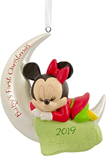 Hallmark Christmas Ornaments 2019 Year Dated, Disney Minnie Mouse Baby's First Christmas Ornament