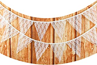 LOVENJOY White Lace Banner for Wedding Decoration - 10.8 Feet