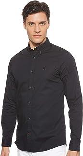 Tommy Hilfiger Men's Stretch Poplin Slim Fit Long Sleeve Casual Shirt