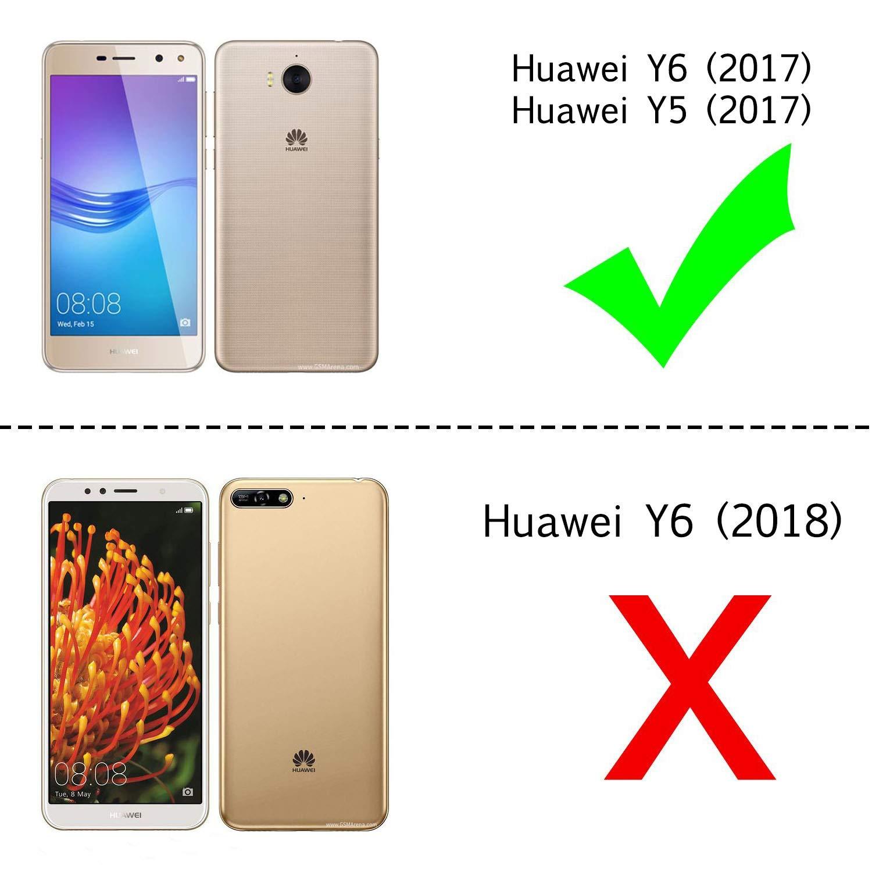 LeYi Funda Huawei Y6 2017 Silicona Purpurina Carcasa con [2 ...