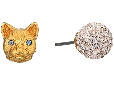 Kate Spade New York House Cat and Pave Studs Earrings