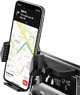 Sturdy CD Player Phone Mount [Three-Side Protections], CD Slot Phone Holder for iPhone Xs MAX XR X 10 8 8Plus 7 7Plus / Ga...