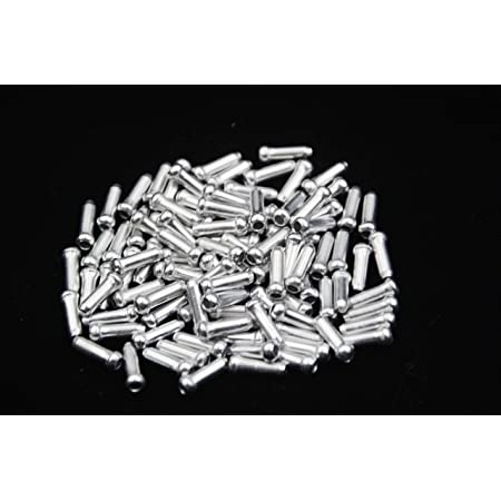 100x Silver Aluminum Bicycle Brake Shifter Inner Cable Tip Wire End Cap Crimsh