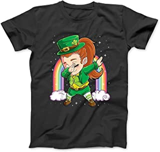 Mint Mama Dabbing Leprechaun Shirt Women Kids Girls St Patricks Day