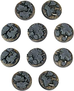 War World Gaming War Torn City Rubble Round Bases x 10 (25mm) - 28mm Heroic Scale Wargaming Terrain Model Diorama Scenery ...