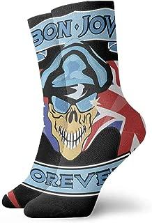 KIJBB2WBFBP Bon Jovi Unisex Short Socks Casual Music Pattern Socks Bag