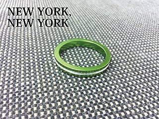 【NEW YORK,NEW YORK】アルミカラースペーサー Cタイプ/グリーン[BMX][ピスト/ピストバイク/シングルスピード/カスタムパーツ]