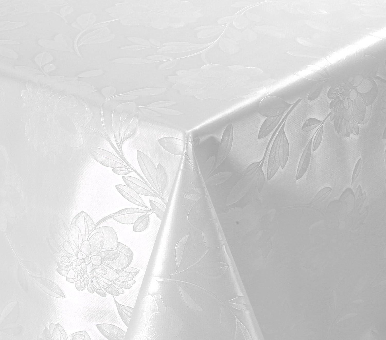 WACHSTUCH TISCHDECKE abwischbar abwischbar abwischbar Meterware, Größe wählbar, 600x140 cm, Relief, Blaume Weiß B0043QPR2I 4acc70