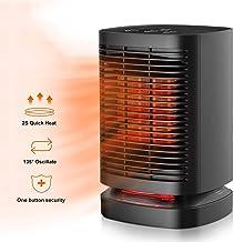 DYS@ Calentador eléctrico de Espacio, Ventilador Calefactor 2 en 1 con Modo oscilante automático de frío y Calor, Temporizador Incorporado