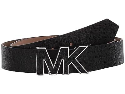 MICHAEL Michael Kors 32 mm Logo Belt (Black) Women