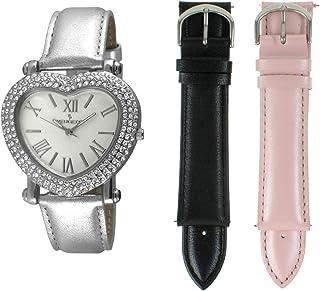 ساعة بيجو على شكل قلب للنساء طقم قابل للتبديل