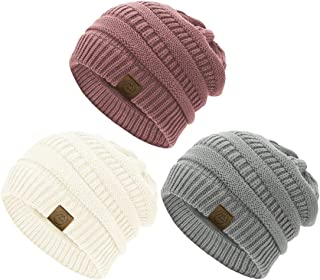 Durio Winter Hats for Women Knitted Womens Beanie Thick Warm Fall Beanie Hat Slouchy Beanies