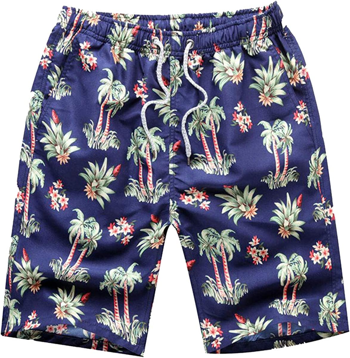 Men's Swim Trunks Beach Board -Green with Ranking TOP12 Fashionable Shorts Lining Coconut