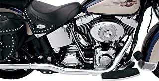 Bassani Xhaust 89-06 Harley FLSTC Power Curve True-Dual Crossover Headpipes (Chrome)