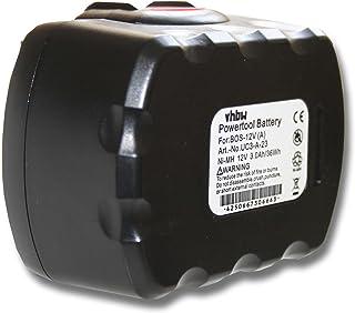 vhbw Batería Ni-MH 3000mAh (12V) para baterías de flejadoras para OR-T 100 & 200, STB61 & 63, BXT10 & 13 como Bosch 2 607 335 709, 2 60 7335 249.