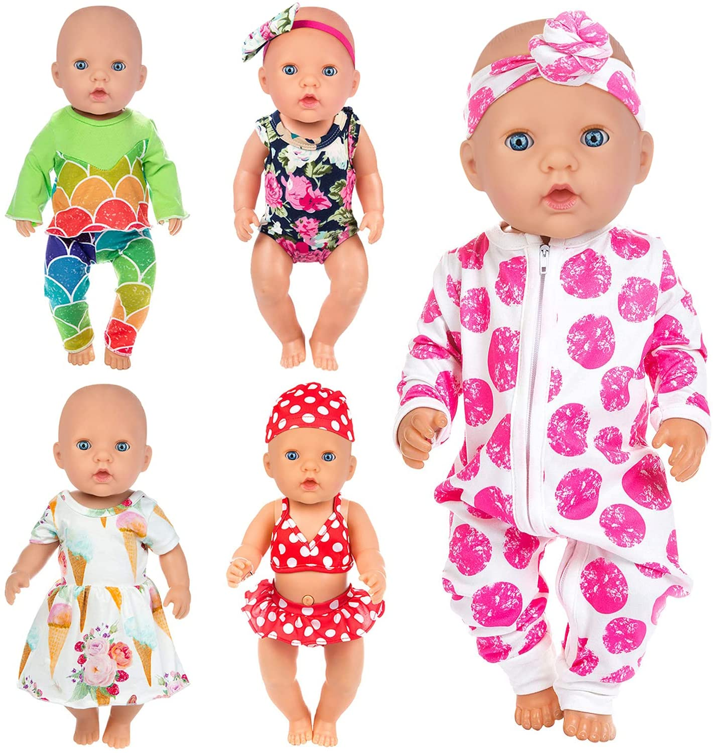 ZITA ELEMENT 10 Items 14-16 Inch Clothes Baby Jumps Dresses Doll Direct Import store