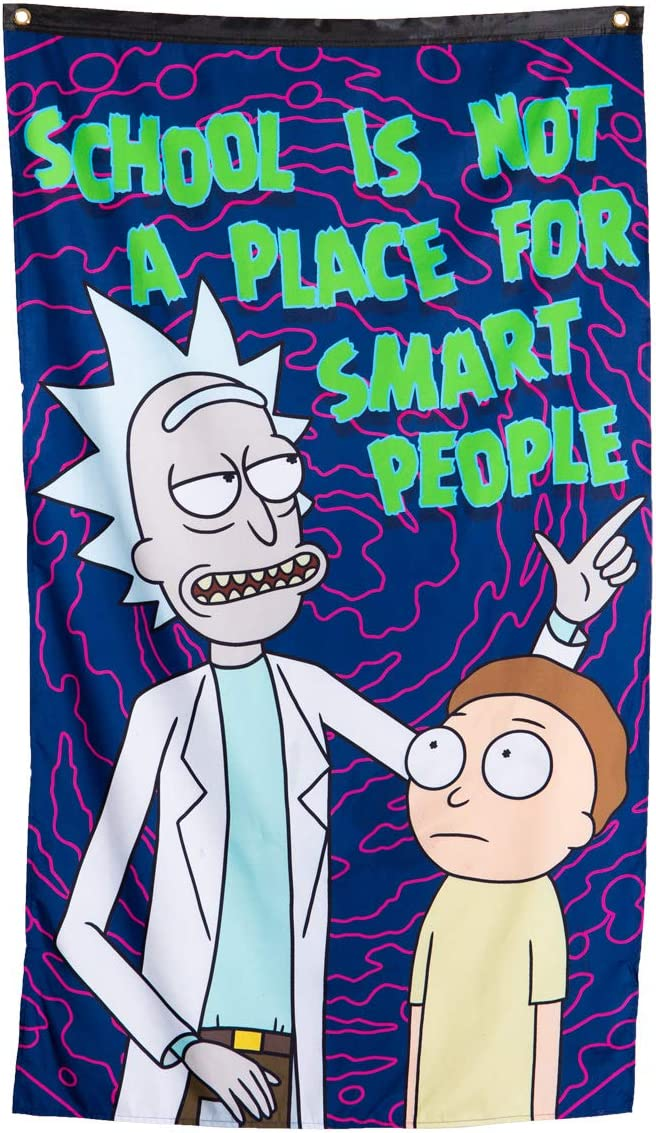 Calhoun Rick and Morty Indoor Tapestry 50