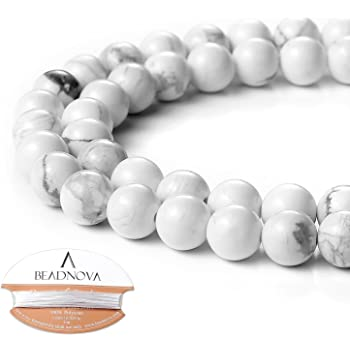Howlite Gemstone Loose Beads Round Crystal Energy Stone Jewelry Making  6 8 10mm