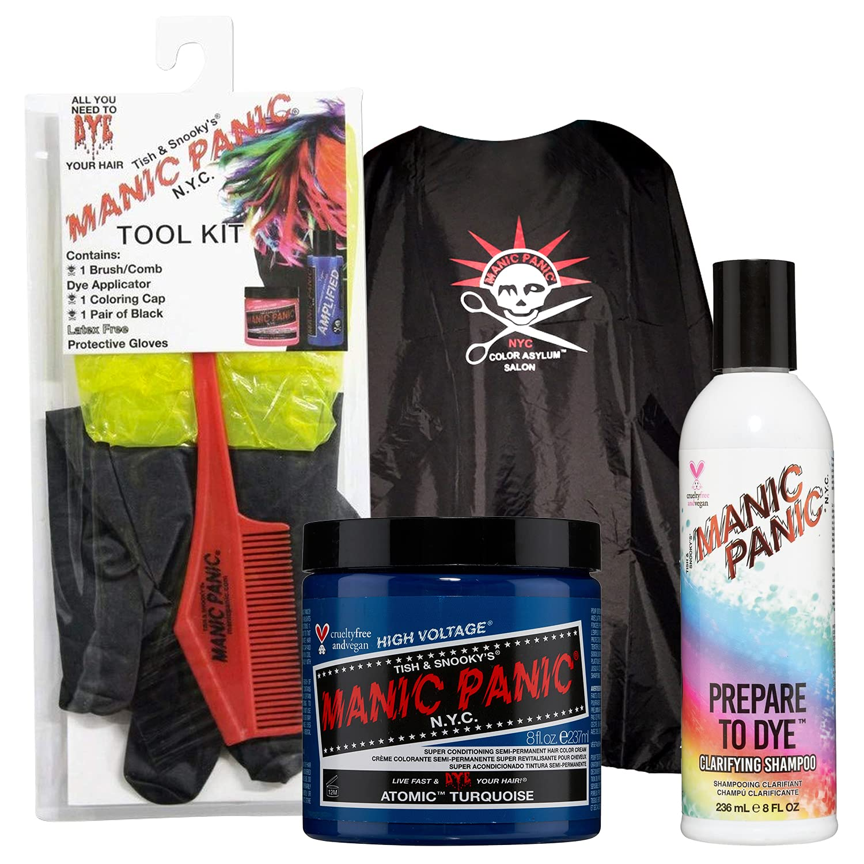 MANIC PANIC Atomic Turquoise Hair Dye Classic Bundle with Genuine Limited price 8oz Ha