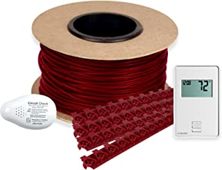 WarmlyYours TCT120-KIT-ON-040 Tempzone Electric Floor Heating Cable Kit with Strips, 40 ft. (10 sq. ft.), Non-Programmable GFCIThermostat