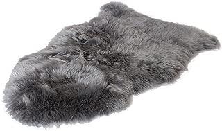 Outlavish Sheepskin Rug Soft Genuine Natural Merino (2' x 3', Grey)