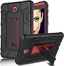 Galaxy Tab A 8.0 (2015) Case, Elegant Choise Three Layer Heavy Duty Full Body Armor Rugged Defender Protective Case Cover with Kickstand for Samsung Galaxy Tab A 8.0 inch / T350NZ / T350 (Red/Black)