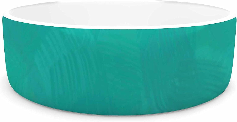 KESS InHouse Oriana Cordero Martinique  orange Teal Pet Bowl, 7