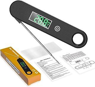 "TOPOFU Termometro da Cucina, 2~3S Lettura Istantanea, IPX6 Impermeabile, 4.7"" Sonda Lunga Pieghevole Termometro Digitale P..."