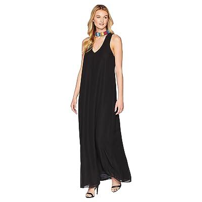Show Me Your Mumu Krista Maxi Dress (Black Chiffon w/ Beading) Women