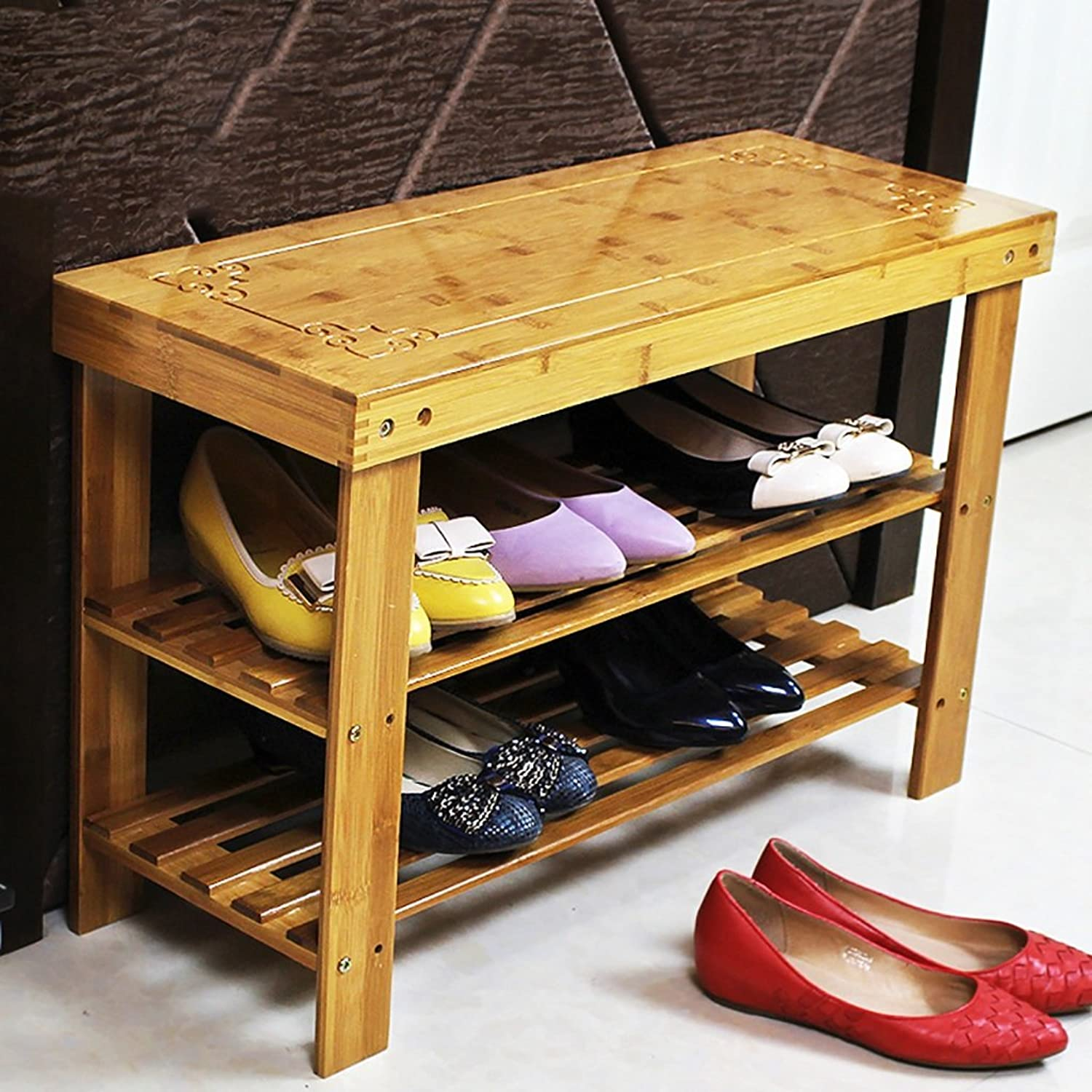 shoes Bench Organizing Rack shoes Shelf Two-Layer dust Solid Wood Nanzhu shoes Cabinet Storage Economy Home Dormitory Bedroom Assembly Living Room shoes