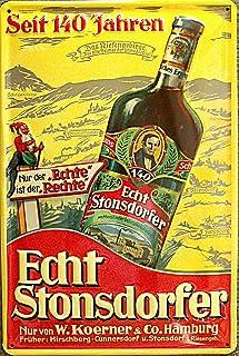 Stonsdorfer Blechschild, 20 x 30 cm