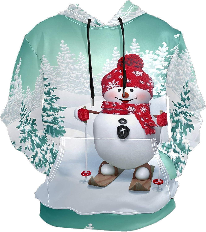 Men's Sport Hoodie Christmas 3D Snowman Smile Big and Tall Hoodies for Men Women Oversized Hooded Sweatshirt Hip Hop Pullover Hoodie Midweight Hood for Boys Girls