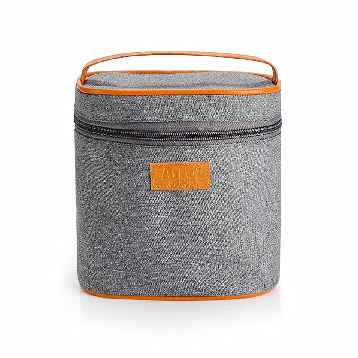 Arrtx Grey Canvas Zipper Marker Pen Handbag Bags Large Capacity Stationery Case Pen Box School Supplies