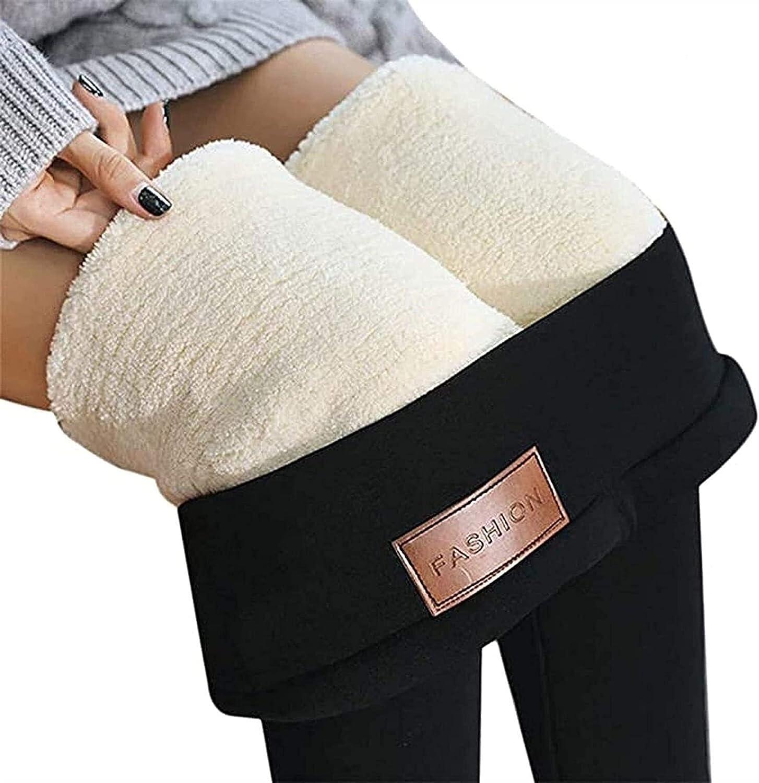 HSOSK Leggings Women's Thermal Sherpa Wa Yoga Fleece Lined Max Oklahoma City Mall 90% OFF Pants