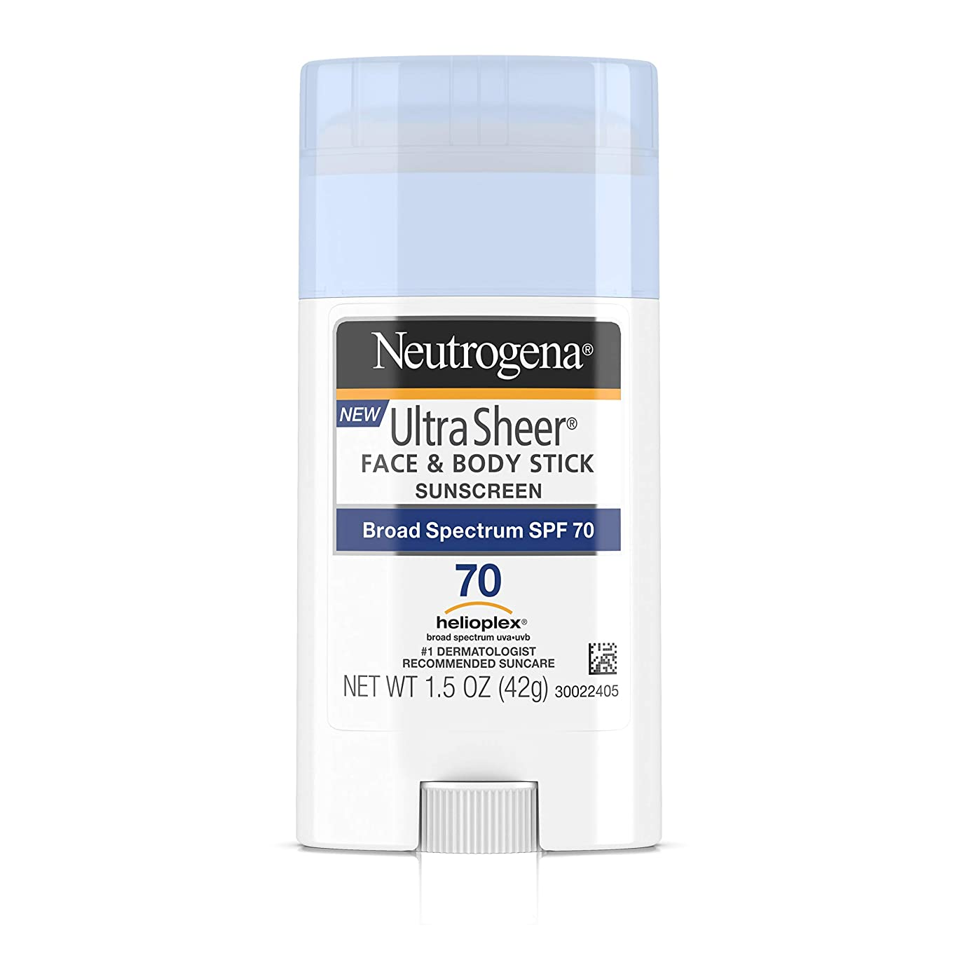 Neutrogena Ultra Sheer Non-Greasy Sunscreen Stick for Face & Body, Broad Spectrum SPF 70, 1.5 oz