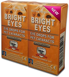 Carnosine Eye Drops For Dogs With Cataracts - Ethos Bright Eyes NAC Eye Drops for Pets (as Seen on UK National TV with Amazing Results!) NAC n acetyl carnosine eye drops are safe to use on all pets - Protect & Restore Your Pet's Vision with the Best Eye Care Starting Today. Contents Include 2 x 5ml Vials