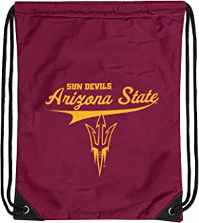 One Size Logo Brands Ncaa Arizona State Sun Devils Unisex Cinch Bagjourney Backsack Maroon Maroon One Size Fan Shop Backpacks