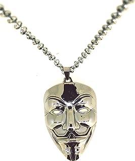Gemelolandia Colgante V Vendetta Mask Plated 7,2 x 4 cm   Collar Casual Para hombres y Mujeres - Idea para Regalar a Amigo...