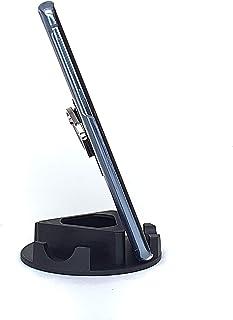 Suporte de Mesa ou Home Office para Celular ou Tablet serve em todas as marcas - Modelo Triangular (Preta)