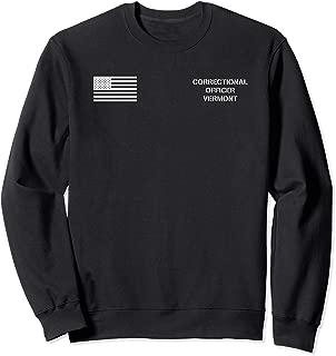 Vermont Correctional Officer Thin Gray Line Flag Uniform Sweatshirt