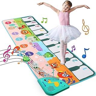 LEADSTAR Tapis Musical Bébé,Jouet Enfant 1 2 3 4 5 Ans,Tapis de Danse Enfants,Early Education Musical Jouets Tapis de Jeu ...