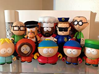 South Park Kidrobot Set 10 Stan, Kyle, Cartman, Kenny, Butters, Chef, Mr. Garrison, Mr. Slave, Officer Barbrady & Mr. Mackey New W/Boxes, Foil, Cards & Accessories Sealed