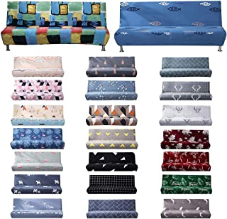 Walmeck Sofa Covers Armless Slipcover All-inclusive Elastic Couch Towel Furniture Protector Without Armrest Two/Three-Seat...
