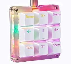 Koolertron One Handed Macro Mechanical Keyboard, RGB LED Backlit Portable Mini One-Handed Mechanical Gaming Keypad OSU! Keyboard 9 Fully Programmable Keys Red Switches