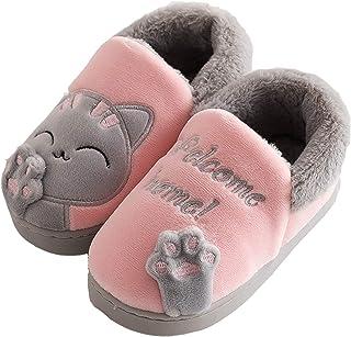 Zapatillas Casa Niños Niñas para Invierno Estar Slippers Casa Interior Caliente Pantuflas Suave Algodón Zapatos Mujer Hombres