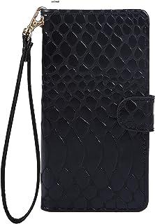 OPPO R15 Neo SIMフリー専用 おしゃれ かっこいい 爬虫類 うろこ柄 ブラック スマホケース スマホカバー 手帳型 横開き 横型 携帯ケース 携帯カバー ジャケット