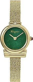 Salvatore Ferragamo Women's Gancini Holiday Caps Swiss Quartz Watch with Yellow Gold Strap, 8 (Model: SF1X00219)