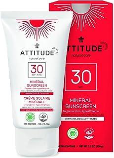 ATTITUDE Natural Care, Hypoallergenic Mineral Sunscreen, SPF 30, Fragrance Free, 5.2 oz